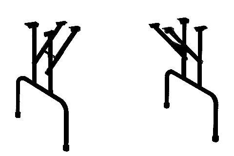 רגליים מתקפלות לשולחן