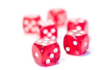 קוביות אדומות למשחקי שש בש