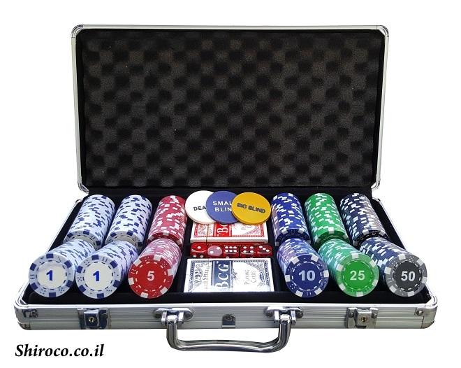 מזוודה 300 11.5 גרם דייס עם ערכים