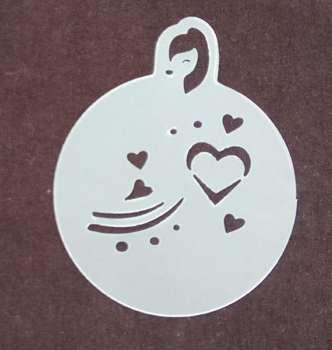 תמונה של שבלונה לבבות