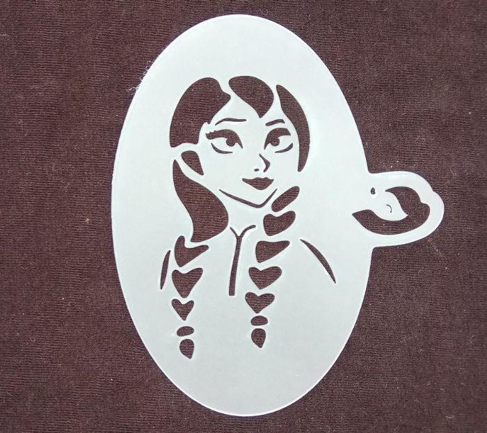 תמונה של שבלונת נסיכה עם שתי צמות