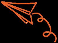 אייקון מטוס נייר לצור קשר