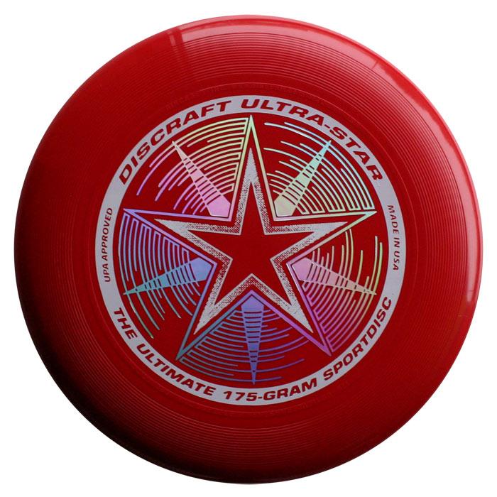 פריסבי אדום כהה - Discraft UltraStar 175g