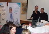 דר קליין ויורם גלר בהרצאת טיפול קרן אור