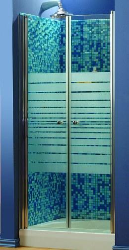מקלחון חזית דגם gemini תוצרת שטרן -כחול לבן-לפי מידה בבית .