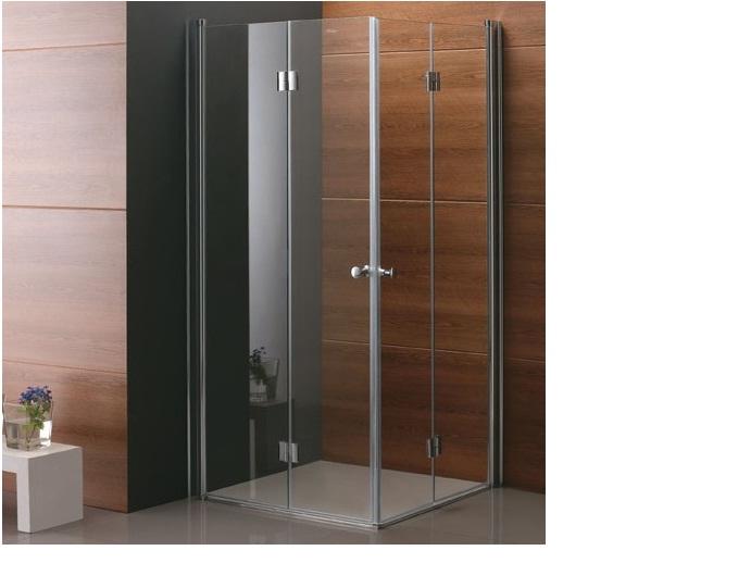 מקלחון פינתי קיפול מלא לתוך המקלחון.הרמוניקה-תו תקן גרמני.