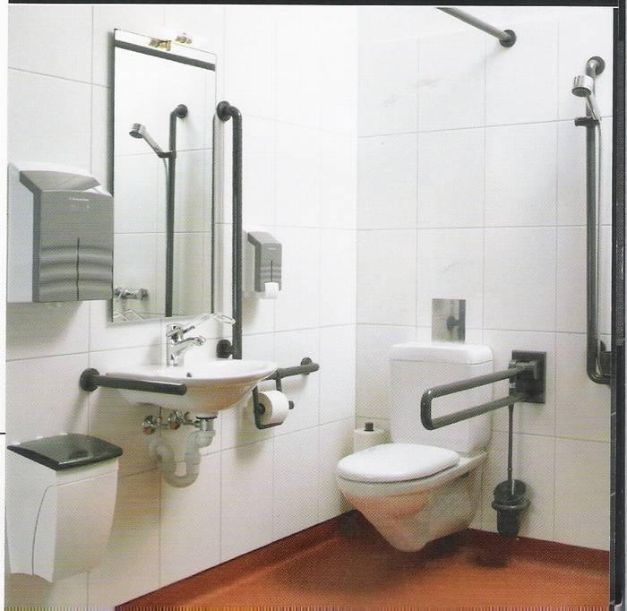 תמונה להמחשה- איבזור לחדר מקלחת לבעלי מוגבלות.