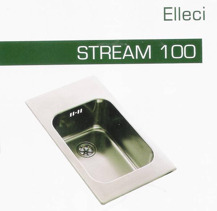 """כיור מטבח קטן-שרות דגם-stream-100 מידות-50-29 ס""""מ תוצרת-elleci"""