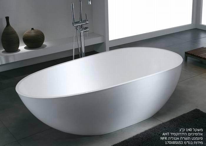 """אמבטיה דגם-קומפורט מידות-170-85 ס""""מ.אספקה מיידית."""