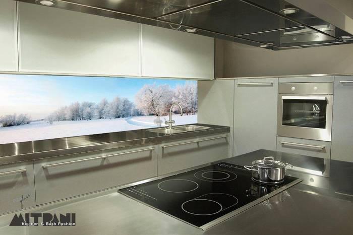 חיפוי זכוכית למטבח דוגמא-11 נוף מושלג.