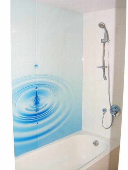 חיפוי זכוכית באמבט דוגמא-16 טיפה בים.