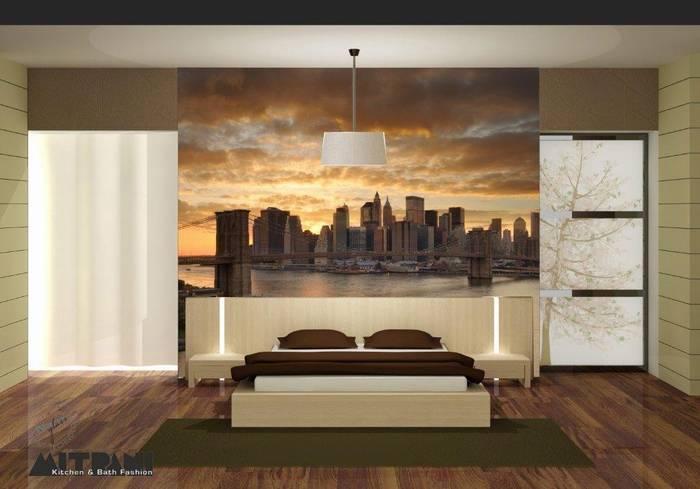 חדש חיפוי זכוכית מודפסת חדר שינה - תמונת נוף בגב המיטה מבחר גדול של אפשרויות.