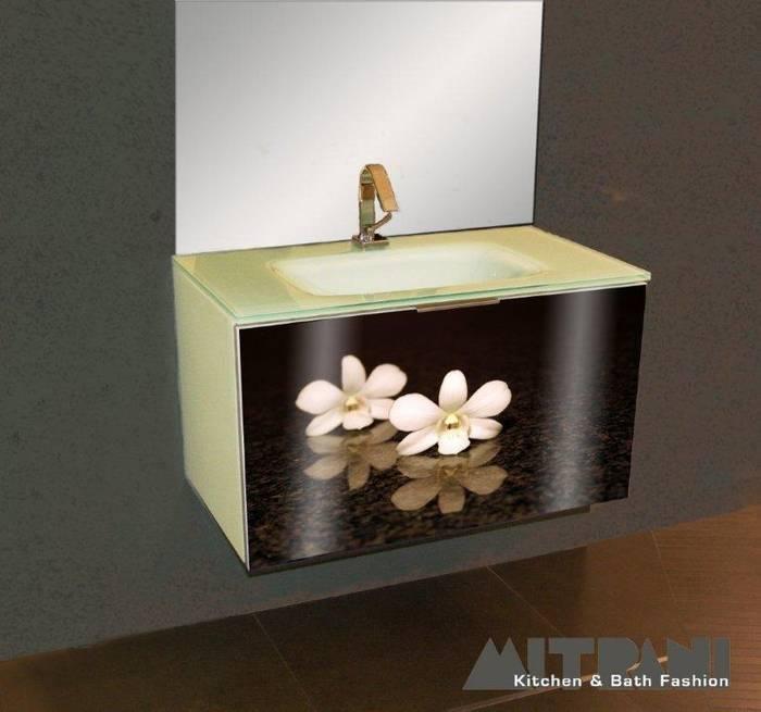 חיפוי זכוכית בחזית ארון אמבט-דוגמא 23