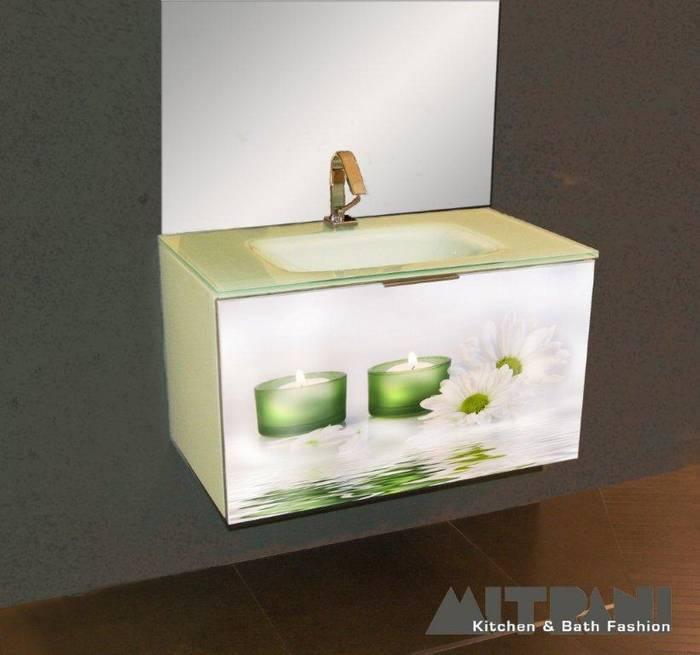 חיפוי זכוכית חזית ארון אמבט דוגמא 25