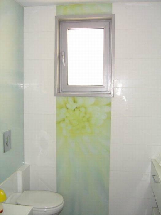 חיפוי זכוכית מודפסת במקלחת פס קישוט.