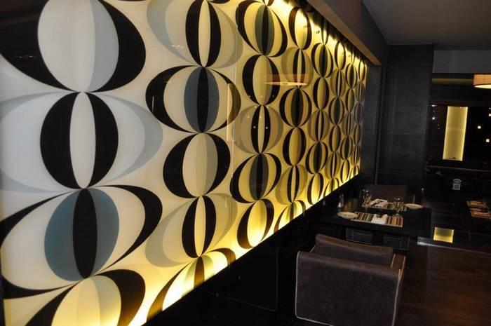 חיפוי זכוכית מודפסת בתי מלון ומסעדות-מלון דן