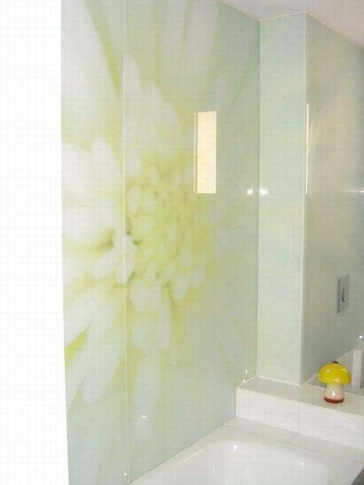 חיפוי זכוכית מודפסת-קירות חדר אמבט.
