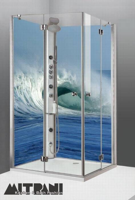 חיפוי זכוכית מודפסת בפינת המקלחת דוגמא-59
