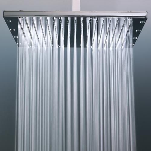 """ראש מקלחת דק מרובע פלזמה-מידה 20-20 ס""""מ.עשוי מתכת brass"""