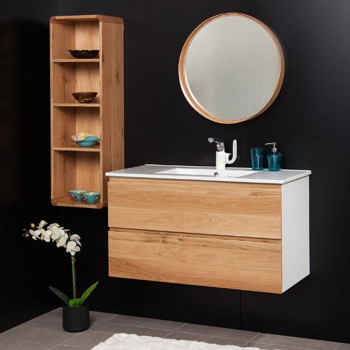 "ארון אמבטיה דגם אדוארד ווד -מידה 120 ס""מ."