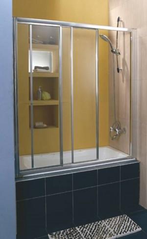אמבטיון חזיתי בין 2 קירות לאטימה מלאה.זכוכית מחוסמת.מבצע
