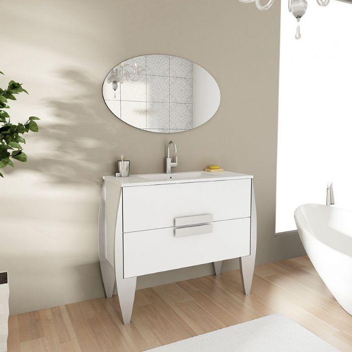 """מבצע החודש ארון אמבטיה דגם ארמני המפואר .מידה -120 ס""""מ. בצבע לבן+כסוף"""
