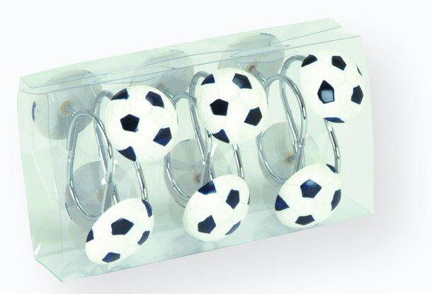 סט טבעות לוילון אמבט-כדורגל-יבוא HB אמבט חלומי.