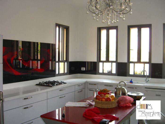 חיפוי זכוכית מודפסת שושנה אדומה-דוגמא442