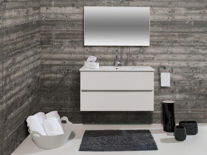 """ארון אמבטיה דגם שחף מידה 100 ס""""מ.-עשוי h.c.p נגד מים אחריות לכל החיים ."""