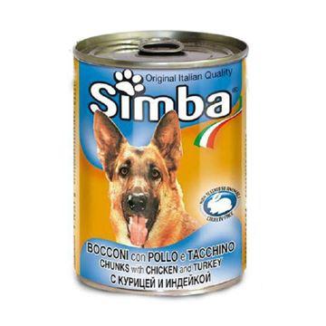 סימבה שימורי עוף והודו לכלב 415 גרם