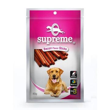 סופרים חטיף בשר לכלבים בטעם בייקון 80 גרם