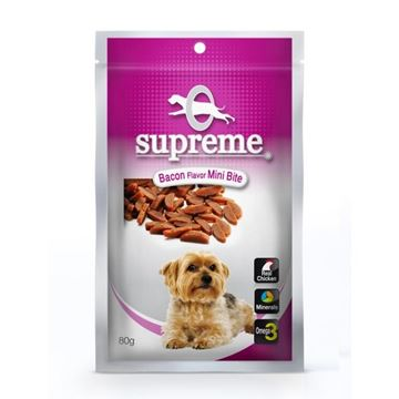 סופרים חטיף בשר לכלבים בטעם בייקון לכלבים קטנים 80 גרם