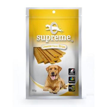 סופרים חטיף בשר עוף לכלבים בטעם גבינה 80 גרם