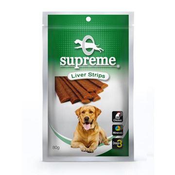 סופרים חטיף בשר עוף לכלבים בטעם כבד 80 גרם