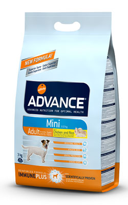 """אדוונס מזון יבש לכלב בוגר גזע קטן עוף ואורז 7.5 ק""""ג"""