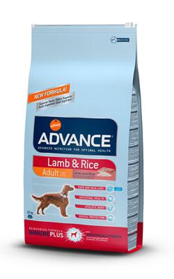 """אדוונס מזון יבש לכלב בוגר כבש ואורז 12 ק""""ג"""