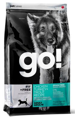 """גו מזון לכלב בוגר ללא דגנים 5.44 ק""""ג"""