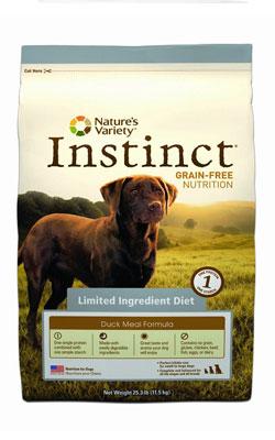 """מזון לכלב אינסטינקט ברווז 11.5 ק""""ג"""