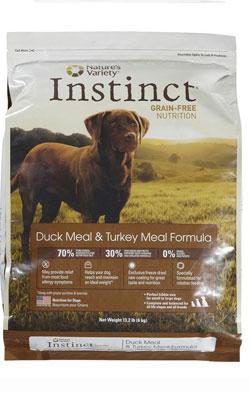 """מזון לכלב אינסטינקט ברווז והודו 1 ק""""ג"""
