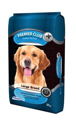 """מזון לכלבים בוגרים פרימייר גזע גדול 17 ק""""ג"""