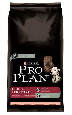"""פרו פלאן מזון לכלבים בוגרים רגישים סלמון ואורז 14 ק""""ג"""
