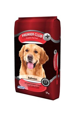 """מזון לכלבים בוגרים פרימייר סלמון 17 ק""""ג"""