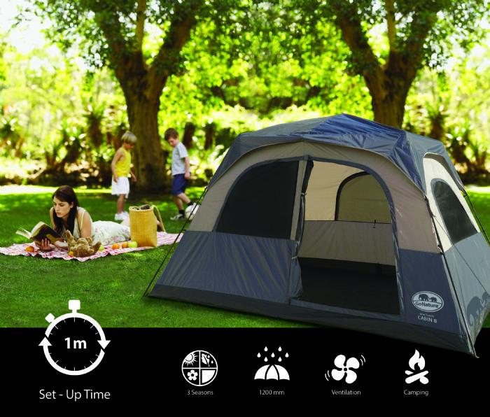 אוהל משפחתי - GO NATURE - CABIN 8