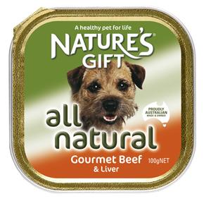 Natures Gift בשר בקר וכבד 100 גרם