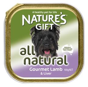 Natures Gift בשר כבש וכבד 100 גרם
