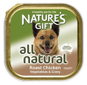 Natures Gift עוף צלוי ברוטב ירקות 100 גרם