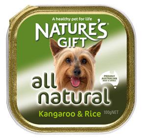 Natures Gift קנגרו ואורז 100 גרם