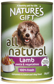 Natures Gift כבש פסטה וירקות 380 גרם