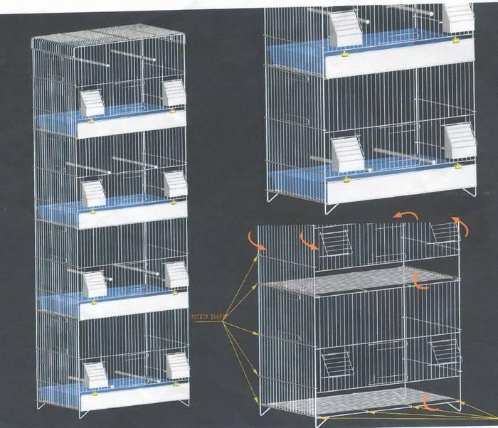 כלוב 4 קומות