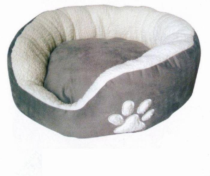 מיטה מבד קטיפתי בצבע אפור S
